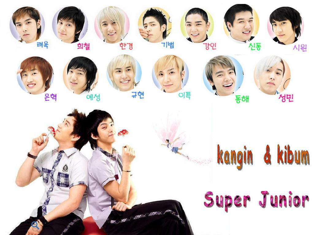 kangin& kibum -superjunior Wallpaper