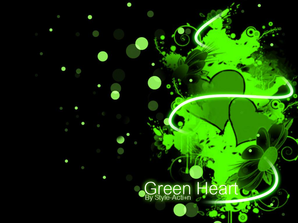 The gallery for --> Green Heart Wallpaper