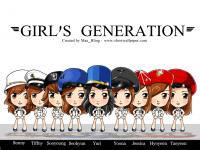SNSD , GENIE Cartoon Ver.