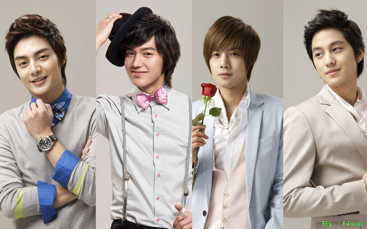 boys over flowers F4 Wallpaper