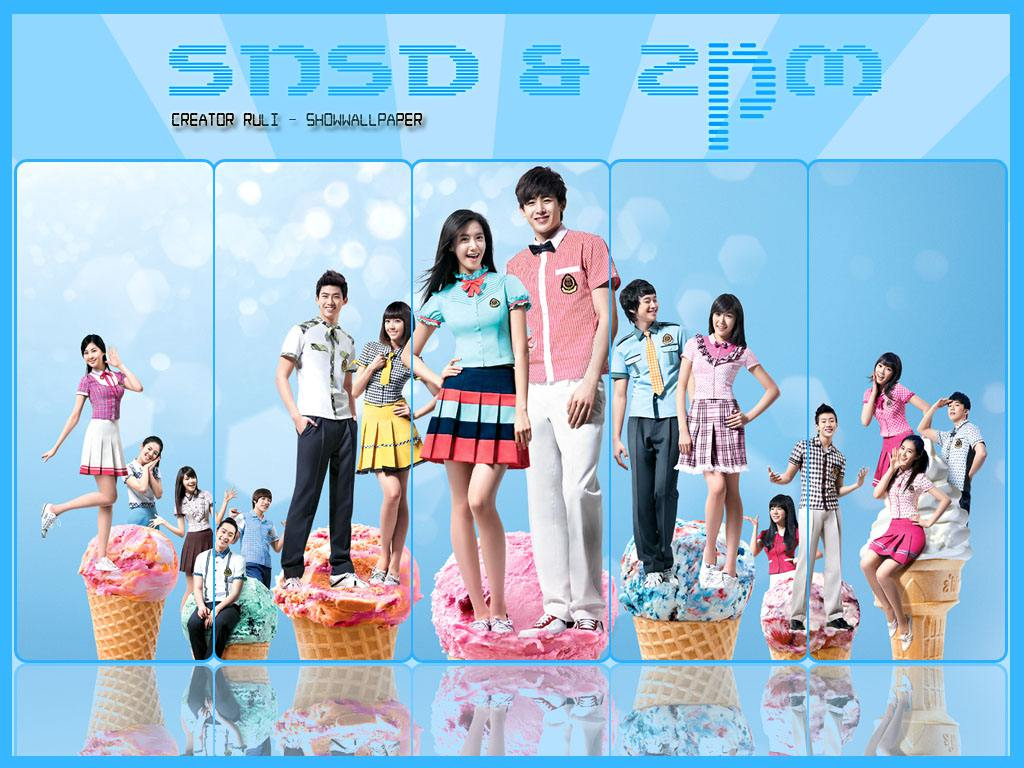 snsd amp; 2pm coLaboration^^ Wallpaper