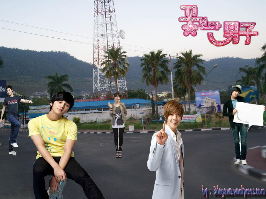 boys over flower wallpaper Photo