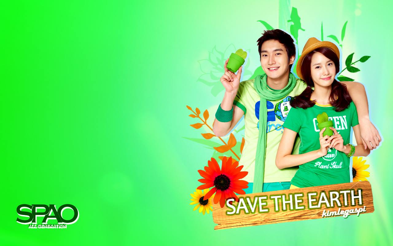 SPAO Save The Earth - Yoona & Siwon Wallpaper : Kim Taeyeon ...