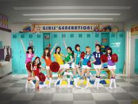 Girls' generation - SPOA cheer girl in cheer room