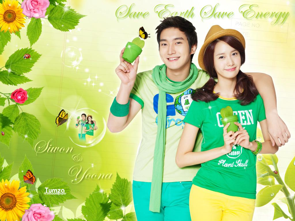Siwon & Yoona Save Earth Save Energy Wallpaper : Save Earth ...