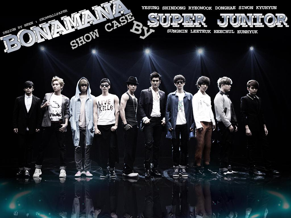 BONAMANA Show Case By SUPER JUNIOR Wallpaper