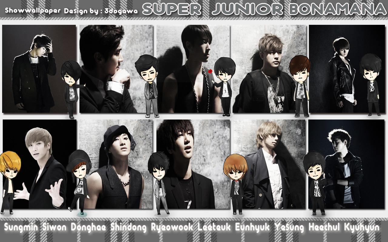 800 jpeg 375kB, Super Junior quot;BONAMANAquot; [Pic and Cartoon] Wallpaper