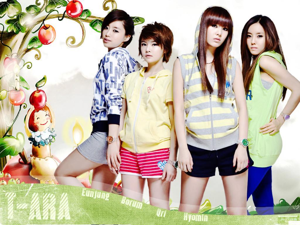 T-ara : Eunjung Boram Qri Hyomin Wallpaper