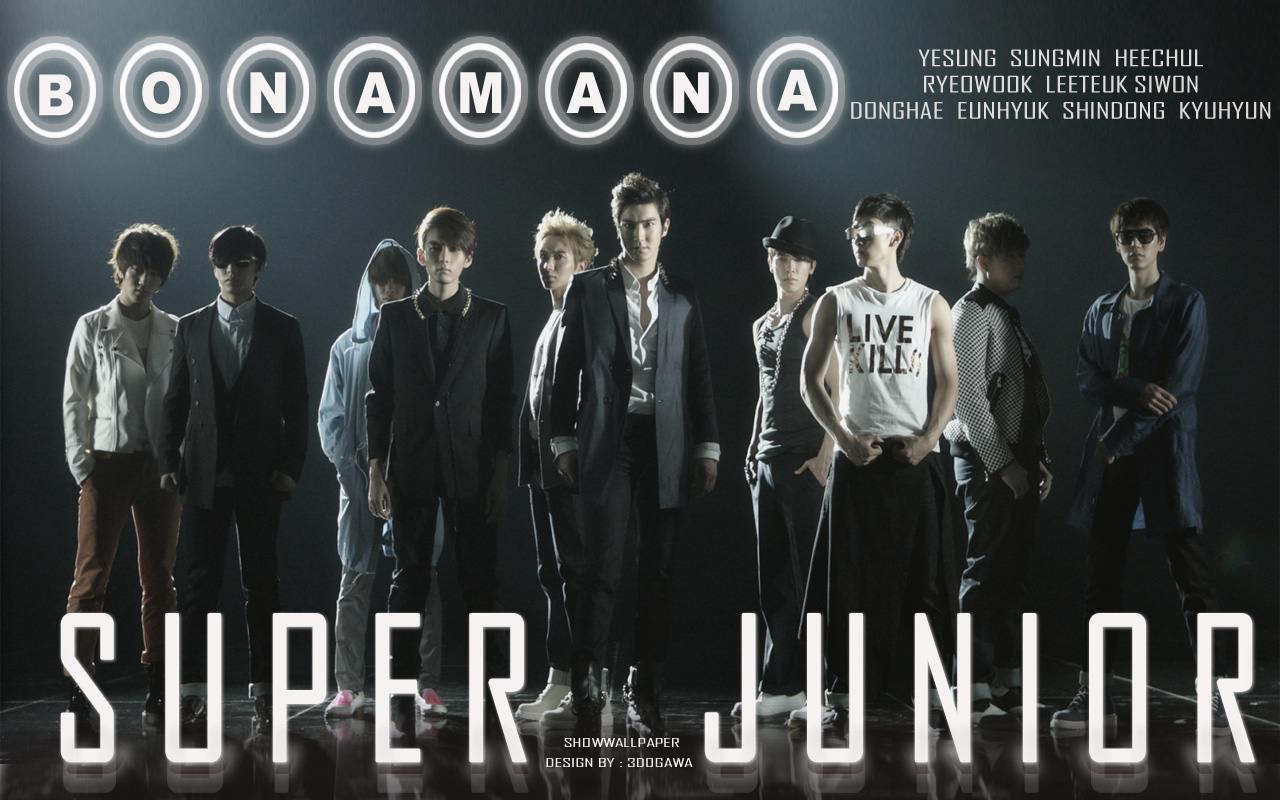 Super Junior in quot;BONAMANAquot; Wallpaper