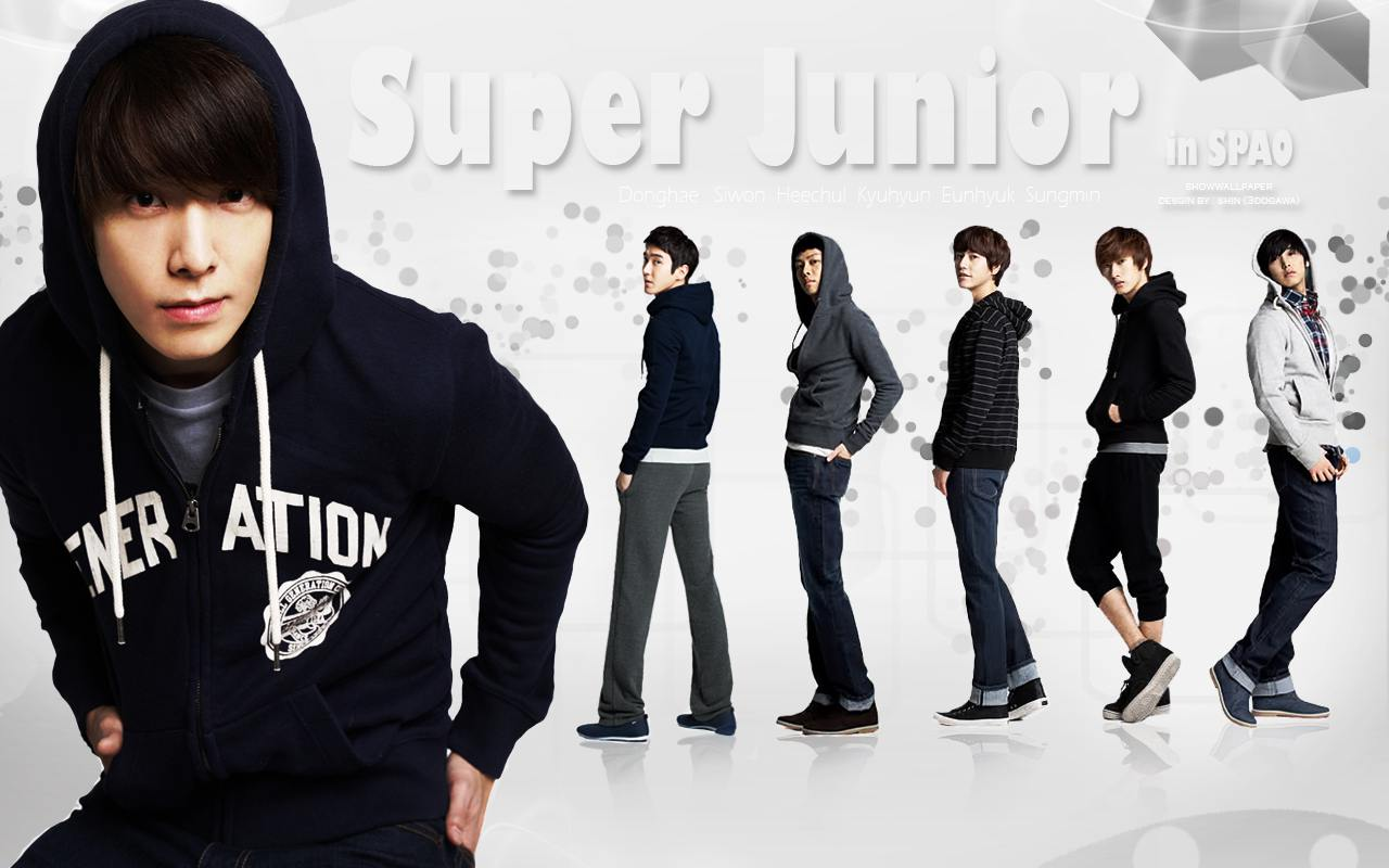 Super Junior in SPAO 2011 Wallpaper