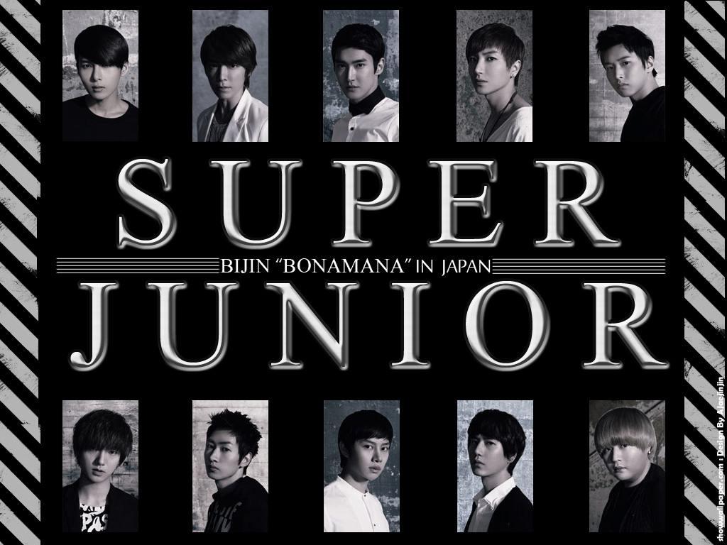 """SUPER JUNIOR : BIJIN """"BONAMANA"""" IN JAPAN Wallpaper"""