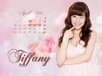 Tiffany April calendar