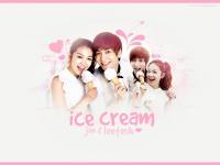 ice cream joo & leeteuk .