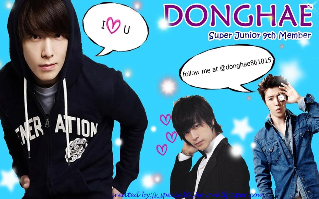 Super Junior 9th Member  Donghae Wallpaper