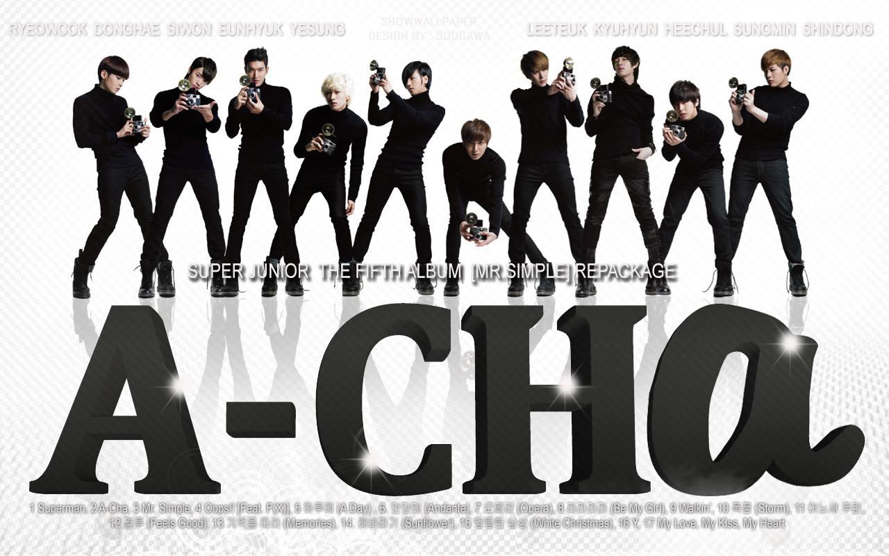 Super Junior 5th Album [Mr.Simple] Repackage : 39;ACHa39; Wallpaper