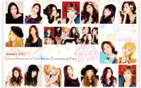 Girls Generation Calendar Jan 2012
