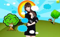 Tiffany SNSD in Cartoon World