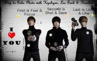 [Just For Fun] Step to Take Picture with Lee Teuk, Hee Chul & Kyu