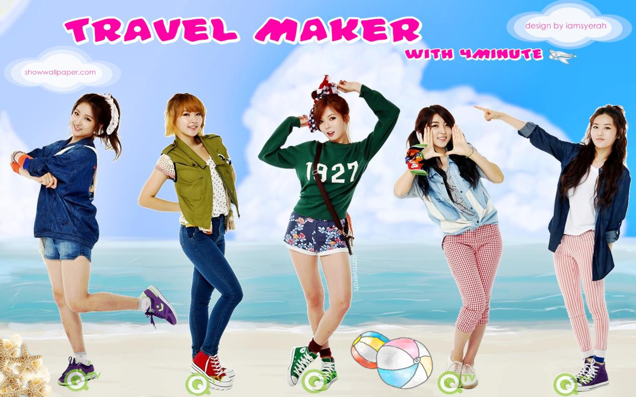 4MINUTE : TRAVEL MAKER with 4MINUTE Wallpaper by iamsyerah