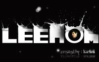 Lee Hom Milk Typography