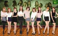 Snsd on Snsd Background