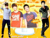 siwon & donghae in bench