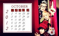 Teen Top : October 2012 Calender