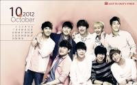 Super Junior Lotte October Calendar