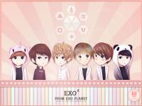 EXO- K cute cartoon ver.