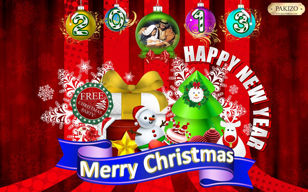 merry christmas and happy new year 2013 wallpaper by pakizo
