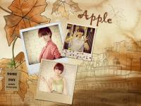 Apple in beautyful time