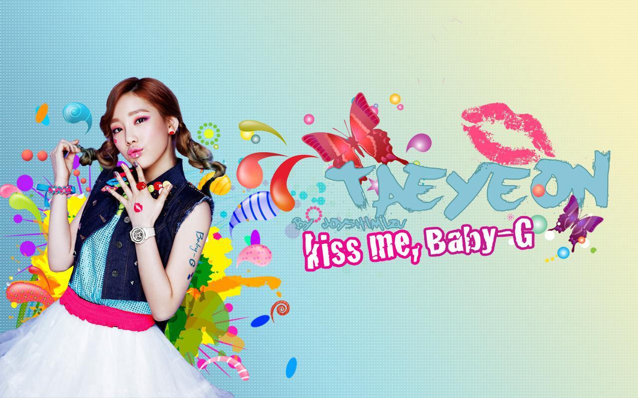 Taeyeon Kiss me Baby g Snsd Kiss me Baby-g Taeyeon