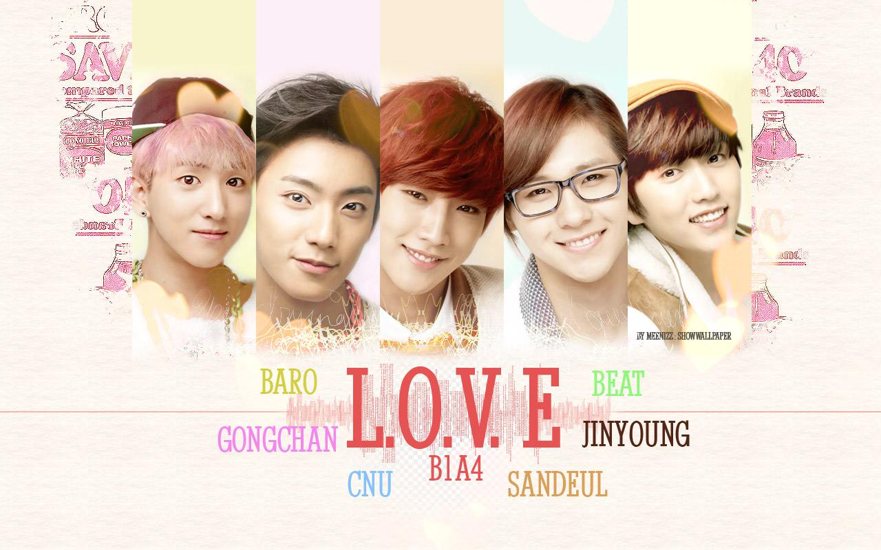 Love Beat with B1A4  B1a4 2014 Wallpaper