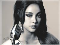 ••Lee Hyori Miss Korea painting•