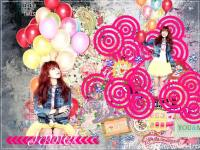 Juniel Black pink wallpaper