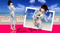 Kim Hyun Ah On the Beach :: Wallpaper