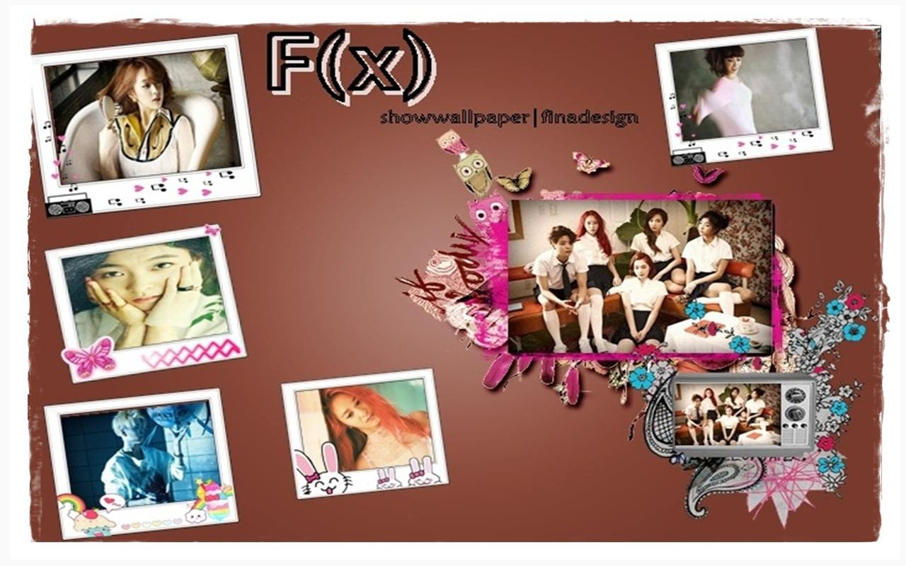 F x  Pink Tape Simple Wall  F(x) Pink Tape Wallpaper