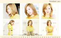 Calendar 2013 Set ::Sunny Girls' Generation L'inoui October: