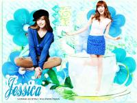 SNSD Jessica : Flower and Glass