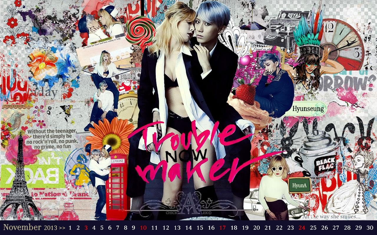 Calendar 2013 Set ::Trouble Maker Now Dance Version November ...