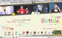 Happy Birthday Kris+My desktop :)