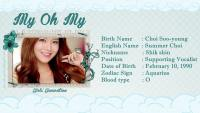 Sooyoung Profile [My Oh My]