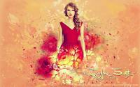 Taylor Swift in red flower