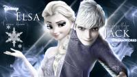 Jack Frost and Elsa wallpaper ( JelSa ) 2