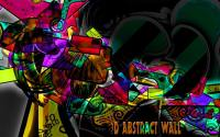 3D Abstract Wall Graphic