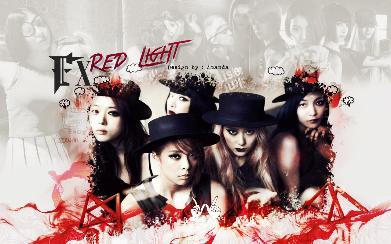 F x  Red Light Wallpaper  F(x) Logo Red Light