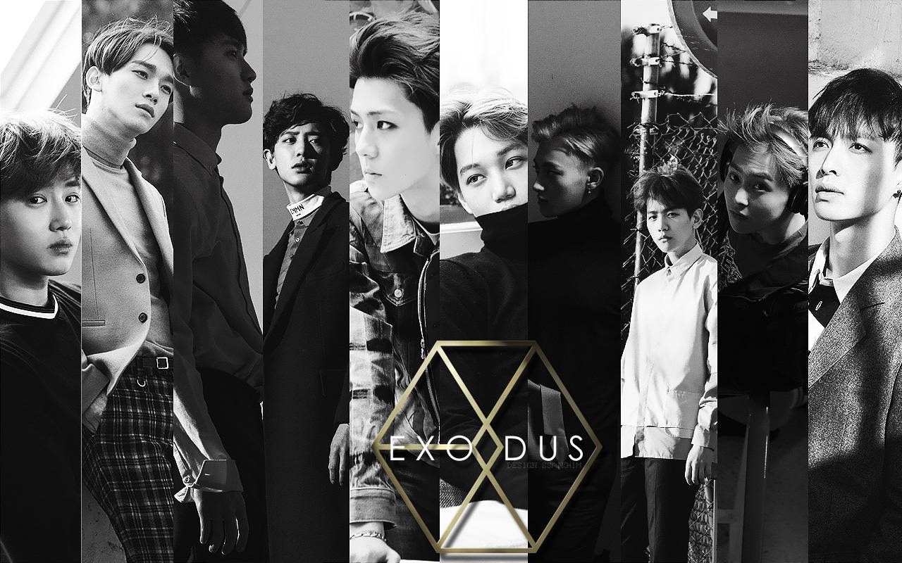 EXODUS : EXO Ver.1 Wallpaper by Saikhim_PinkL