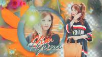 Hyuna | Orange Wall